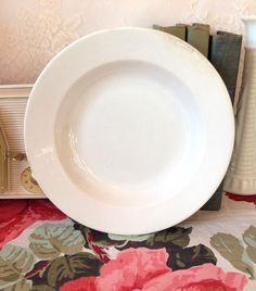 Antique Ironstone Bowl By John Edwards, White Ironstone Bowl, Ironstone Dinnerware, Antique Porcelain, Porcelain Ironstone, Collectible by LakesideVintageShop on Etsy
