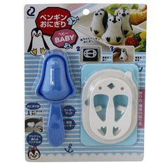 Buy Arnest's Baby Penguin Onigiri Rice Ball Set and make onigiri rice balls that are almost too cute for words! Set comes with a penguin rice mould and feature cutters.