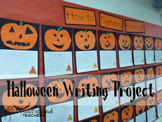Halloween writing project. emphasizes sequencing. nice!