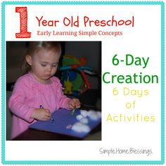 6 Days of activities to teach the Biblical 6 day creation account.  Very basic ideas to make the creation account come to life.