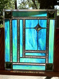 Stained Glass Panel. $260.00, via Etsy.