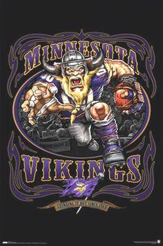 Minnesota Vikings Mascots, Logo, Pin-up Girl. Paper or PDF Equipo Minnesota Vikings, Minnesota Vikings Football, Nfl Football Teams, Football Art, Football Posters, Football Memes, Nfl Logo, Team Logo, Minnesota Vikings Wallpaper