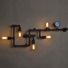 Industrial Plumping Pipe Steampunk Wall Light by RVsupplyco