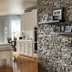 Sala moderna pared en piedra para el hogar pinterest - Casas decoradas con piedra natural ...