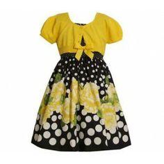 395996384d Bonnie Jean Dresses -Bonnie Jean Yellow Floral Dress -  48.00