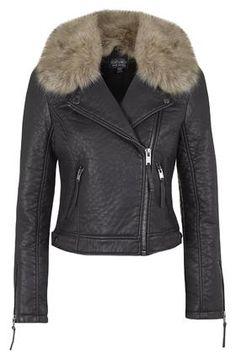 TALL Faux Fur Collar Jacket