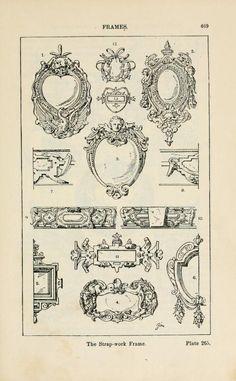 A handbook of ornament; frames the strap-work frame pg 469