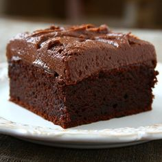 This extra rich & fudgy chocolate sour cream cake is for serious chocolate lovers!