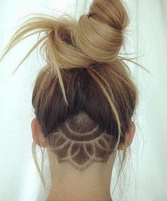 Chic Triangle Undercut with Pretty Updo Hairstyles 2018 for Girls