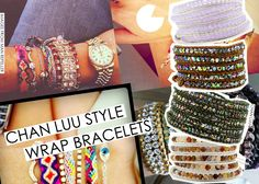 These are some really cool Chan LUU style wrap bracelets I would love to try out. How pretty!