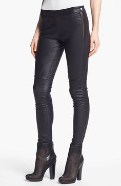 These are scandalous....Rachel Zoe 'Maxine' Skinny Stretch Leather Pants | Nordstrom