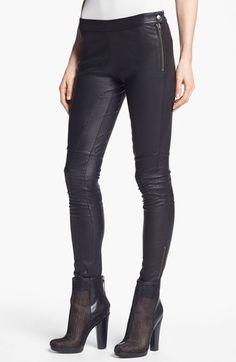 Rachel Zoe Skinny Stretch Leather Pants