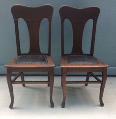 antique quarter sawn t back tiger oak dining chairs set original finish leather antiques