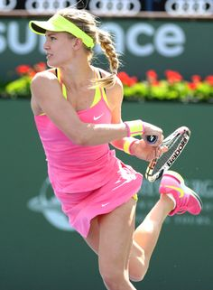 2015 BNP Paribas Open Third Round; Eugenie Bouchard Tennis Live, Sport Tennis, Tennis Techniques, Sixpack Workout, Divas, Eugenie Bouchard, Maria Sharapova Photos, Tennis World, Beautiful Athletes