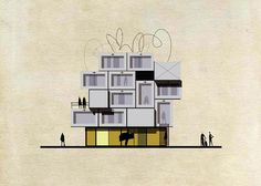 Famous artworks transformed into buildings by Federico Babina