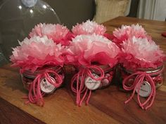 with tissue pompoms (like in high school Late '60's! BT)