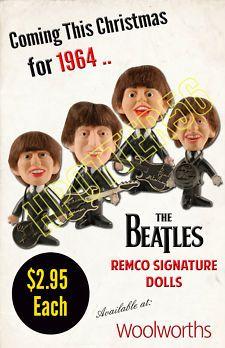 The Beatles 1964 Remco Signature Dolls Store Display Poster Beatles Trivia, Beatles Art, The Beatles, Celebrity Advertising, John Lennon Paul Mccartney, School Reunion, The Monkees, The Fab Four, Movie Poster Art