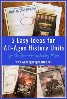 5 easy ideas for all-ages history unit studies. Perfect for relaxed summer engagement, homeschooling, or unexpected crisis learning. via Walking in High Cotton History Timeline, Us History, Liberty Kids, Life Values, Modern Homesteading, Hard Workers, Chores For Kids, Unit Studies, Meaningful Life