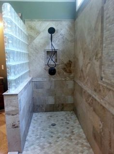 shower remoldel with a window | end of this spacious shower with matching oil rubbed bronze shower ...