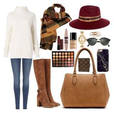 """STYLE SUNDAY// AUTUMN🍁"" by fionacummings on Polyvore featuring Gianvito Rossi, 7 For All Mankind, Diane Von Furstenberg, New Directions, Wilsons Leather, Maison Michel, Michael Kors, Kendra Scott, Morphe and Maybelline"