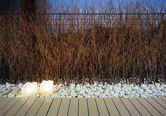 FOUND seaside garden + path ideas = solar lights!
