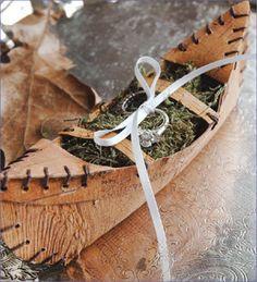 Canoe Ring Bearer Pillow $30 Whispering Pines Catalog