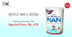 Order Nestle Nan Pro Stage 2 Tin 400Gm online at Kiraanastore. Avail exciting offers on grocery shopping from your trusted grocery store. Order Now !