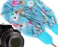 Flowers scarf camera strap. DSLR / SLR Camera Strap. by InTePro #flowers #scarf #camera #camerastrap #photography