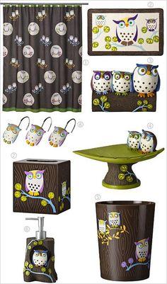 Owl bath accessories by MyOwlBarn, via Flickr