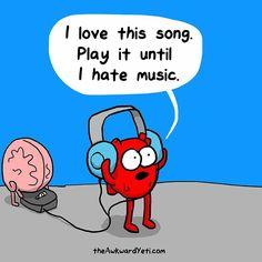 Siempre, con cada nueva canción del playlist.