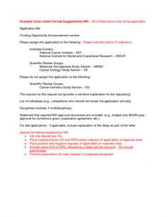 Cover Letter Nih Always Use A Convincing Covering With Your CV When