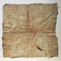 Now there are six incisions in this antique quilt block. #quilt #quiltart #textiles #textileart #fiberart #fiberartist #art #contemporaryart #contemporaryquilt #stitch #stitching #workinprogress #wip #incision #wound #stitches