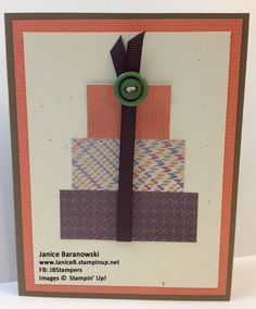 A quick and easy card with Fall Gifts - personalize it with a greeting to match the occasion! #JBStampers