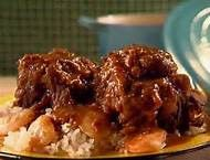 Get Braised Oxtail Stew Recipe from Cooking Channel Braised Oxtail, Oxtail Stew, Oxtail Meat, Stew Chicken Recipe, Chicken Recipes, Beef Recipes, Oxtail Recipes Easy, Vegan Recipes, Curry Recipes