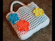 How To #Crochet Summer Beach Bag #TUTORIAL DIY Handbag Free projects - YouTube