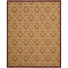 This rug is defined by intricate Oriental and floral design and dense, thick pile. This rug combines great styling and comfort with a durable power-loomed construction making this ultra low shedding rug easy to maintain.