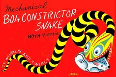 Boa Constrictor Snake with Victim 12x18 Giclee on canvas