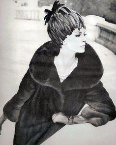 Nena von Schlebrugge in mink by Revillon 1963