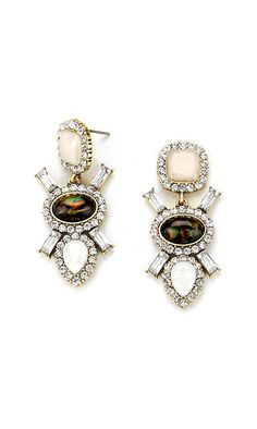 Florenne Earrings in Ivory Illume