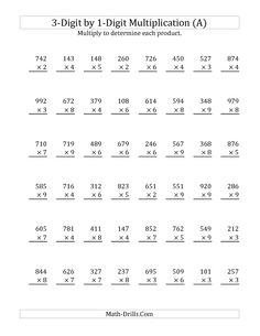 Printables Tutoring Worksheets worksheets division and multiplication on pinterest the multiplying a number by all math worksheet from long page at