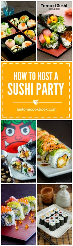 A Guide to Host a Sushi Party | Easy Japanese recipes at