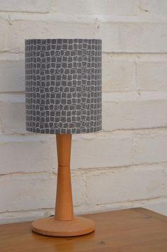 Lampshade grey lampshade modern lamp lighting by ShadowbrightLamps