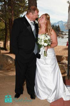 Seems she is the happiest women. #laketahoewedding #laketahoeweddingphotography  #laketahoebeachwedding #wedding #marriage #romance #couple #bouquet http://www.rachellevinephoto.com/