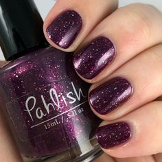 Pahlish - Bespoke Batch - Victorian Velvet. A deep reddish plum packed with taupe-red shimmer and platinum silver flakes! *Bespoke Batches are single batches that will not be restocked! Be sure to check us out on Facebook.com/pahlish and on instagram @pahlish for all the latest info!