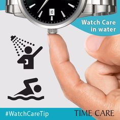 #WatchCareTip #watercare #tip1 Before showering / swimming etc: Check that the crown is fully pushed in or screwed down against the case in order to preserve water- resistance. To protect your leather strap from deformation or discoloration avoid contact with water. For frequent or prolonged use in water, we recommend a steel bracelet or rubber strap. #watchcare #tip #timecare #watch #service #repair #centre #ahmedabad #vadodara #surat Help Line Number: +91 8866045656