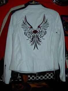Wing white leather HD Jacket soft I have the gloves too