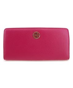 Carnation Red Landon Continental Leather Wallet