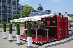 Decorating, Small Outdoor Restaurant Design Ideas With Shipping Container Concepts: How to Design a Restaurant in Simple Way