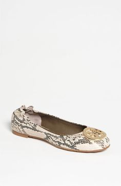 If anybody knows my husband, please share this for Christmas :) Tory Burch 'Reva' Flat | Nordstrom