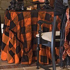 A spooky blog for spooky people. I've always loved this table cloth.